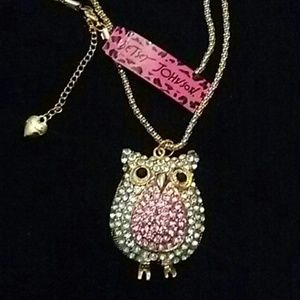 Betsy Johnson Owl Necklace